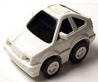 WHITE HONDA CR-X 001-01